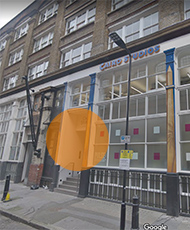 The entrance to our London office is on Nile Street, off Shepherds Walk.